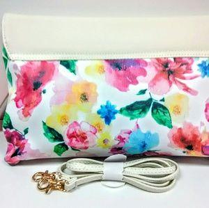 VIETA Fashion Bags - Black  Colorful Flower Bag!